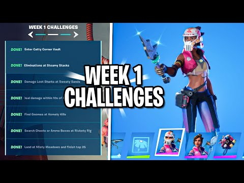 How To Complete All Week 1 Challenge (Week 1 Challenges Guide) - Fortnite Season 3