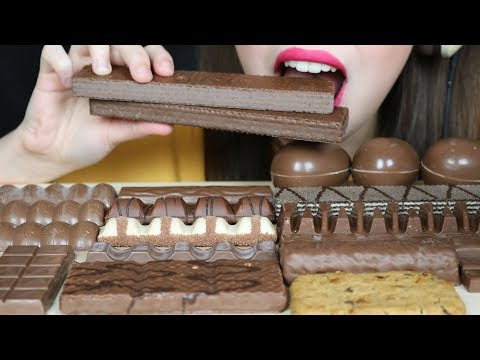BEST POPULAR CHOCOLATE CANDY FOR ASMR (Eating Sounds) No Tal
