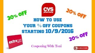 CVS % Percent % off Coupons for 10/9/2016 | How To Apply Them