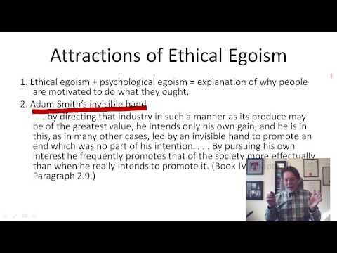 3.1 Ethical and psychological egoism (8:28)