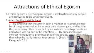 3.1 Ethical and psychological egoism (8:28)