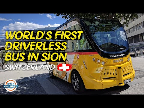 Join Us For a Tour on the World's First Driverless Bus in Sion Switzerland