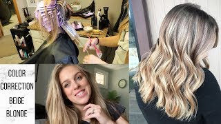 Hair Color Correction, Beige Blonde Transformation | Lisa Huff Hair