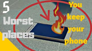 5 worst places to keep your android phone
