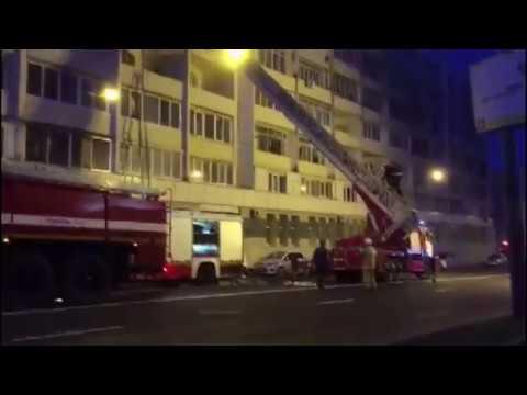 Пожар на Партизанском проспекте во Владивостоке