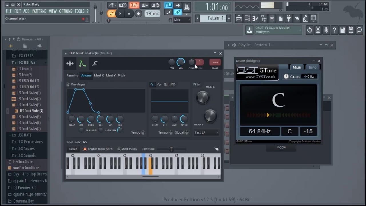 Tune Your 808 Free VST FL Studio 12 5 Gtune