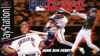 MLB Pennant Race PlayStation Gameplay - Albert Belle & Brady Anderson Home Run Derby Contest