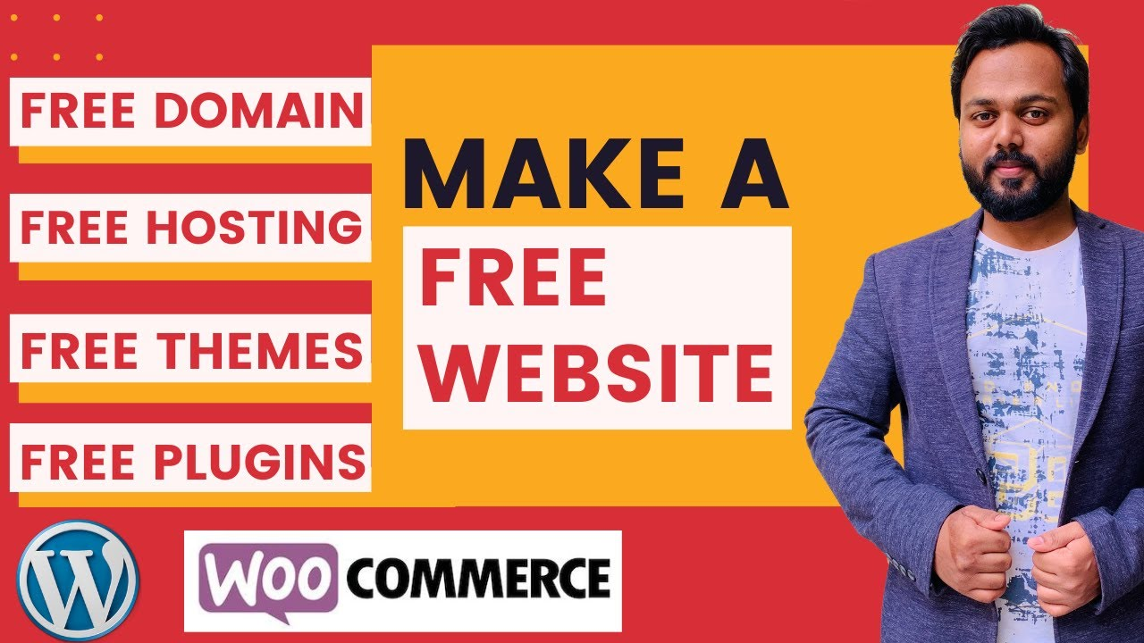 How to Make a FREE Website with FREE Domain Name and Free Web Hosting, Make a FREE eCommerce Website