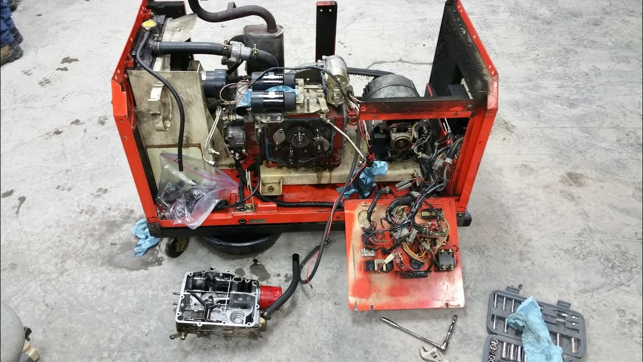 kubota gl6500 generator cold start diagnosis youtube rh youtube com Kubota D1105 Parts Breakdown Kubota Wiring Schematic
