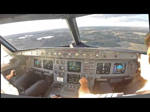 Malmo ESMS Cockpit view (improved) landing rwy 35