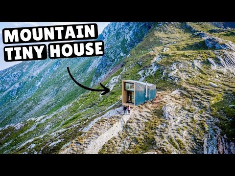 Our TINY HOME IN THE SWISS ALPS (full tour)