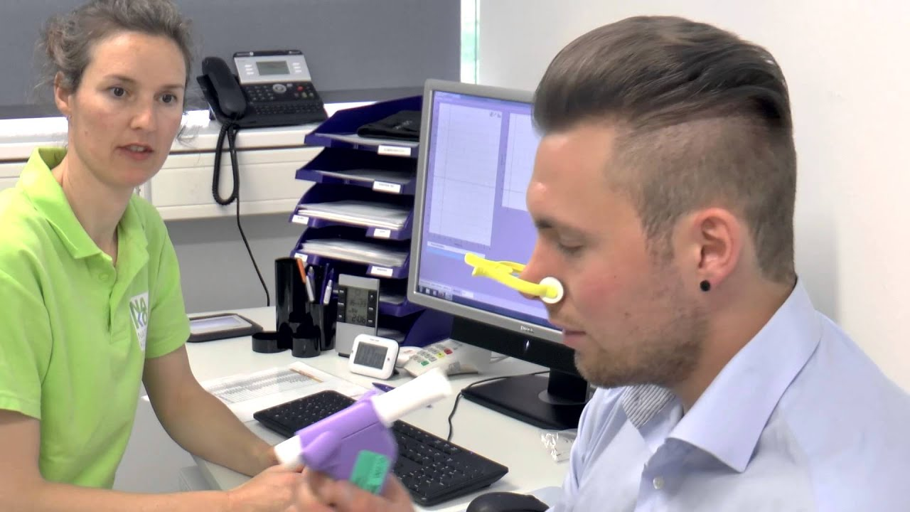 Messung der Lungenfunktion (Spirometrie) - YouTube