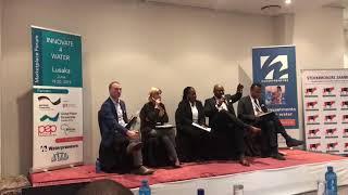 """""""Innovate 4 Water"""" Lusaka - panel - Namaya Mbikusita and Rodney Carew"""