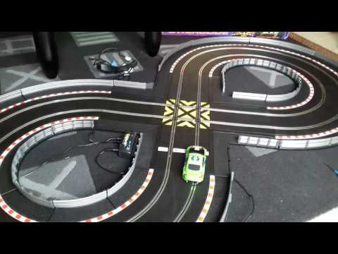 Scalextric powerslide set in action!