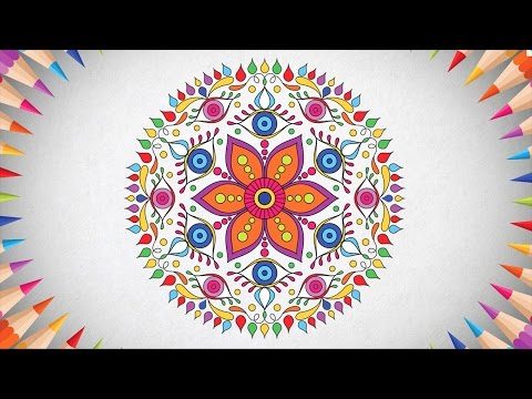Mandala adult coloring book. Relaxing coloring pages