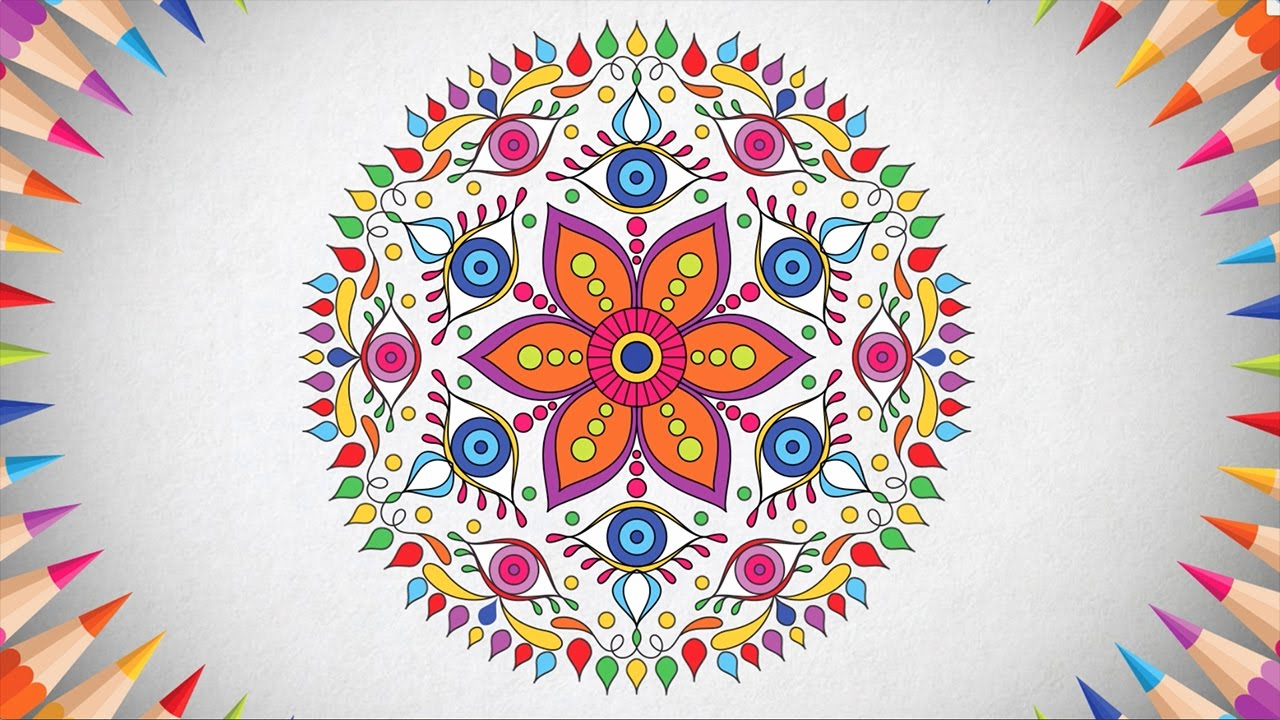 Coloring pages relaxing - Mandala Adult Coloring Book Relaxing Coloring Pages