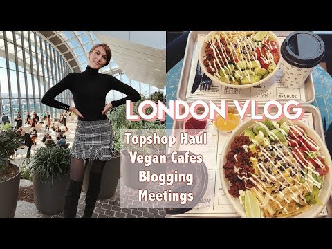 LONDON VLOG 4: TOPSHOP HAUL, VEGAN CAFES, SKY GARDEN | Blaise Dyer
