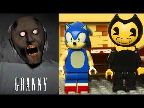 Лего Грэнни против ежика Соника и Бенди