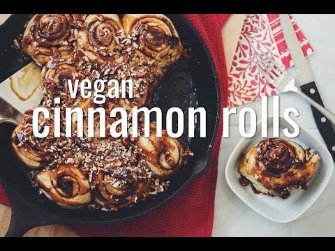 VEGAN CINNAMON ROLLS | hot for food