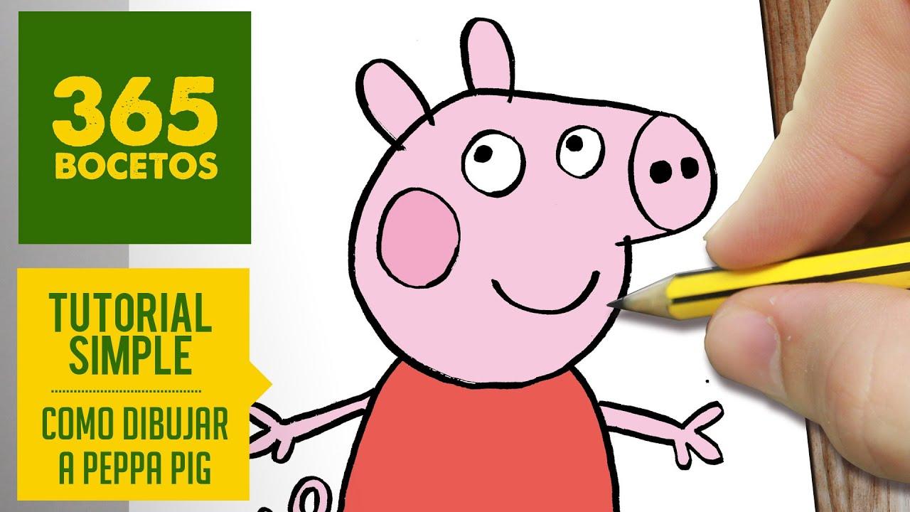 COMO DIBUJAR A PEPPA PIG PASO A PASO Y A LOS PERSONAJES DE