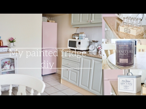 How to paint your fridge, how I painted my fridge from black to retro pink.