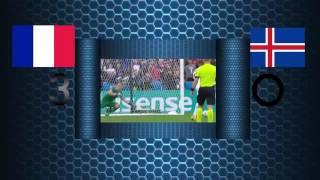 France vs Island 5 2 All Goals & Highlights EURO 2016