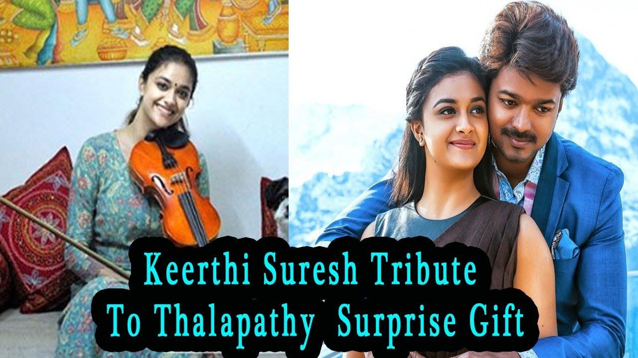MASTER: Keerthy Suresh Stunning Violin Cover of Kutty Story for Vijay's Birthday | Tribute To Vijay