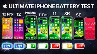 iPhone 12 vs iPhone 12 Pro / 11 Pro Max / 11 Pro / 11 / XR / SE Battery Life DRAIN Test.