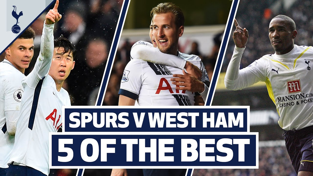 FIVE OF THE BEST | AMAZING SPURS GOALS V WEST HAM | ft. Son, Kane, Defoe & Mido!