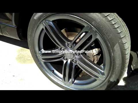 simple body and paint gun metal gray metal flake gloss rim dip