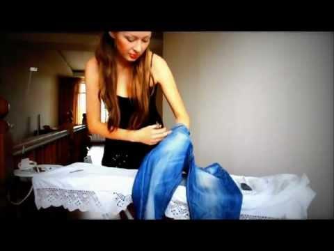 Как состарить джинсы в домашних