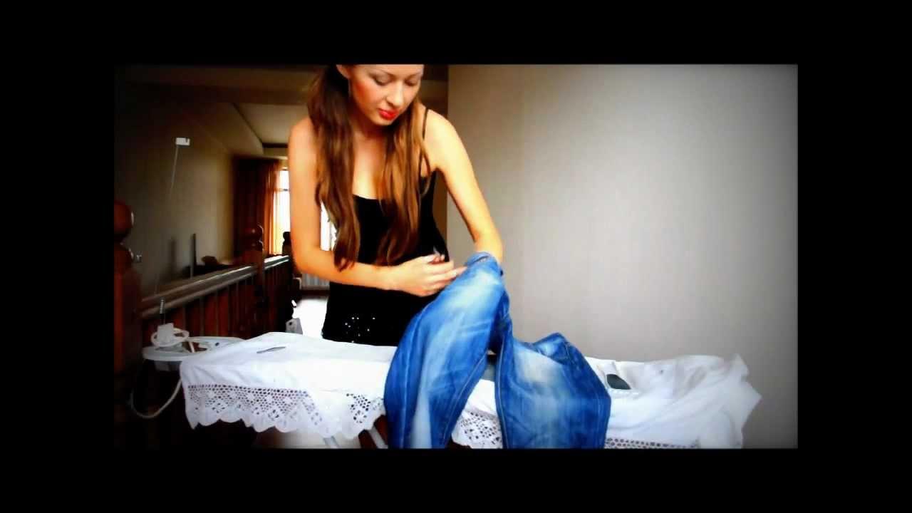 Как Сделать Дырки и Потертости на Джинсах Легкий Способ JeniaKyn - YouTube fda23bb103440