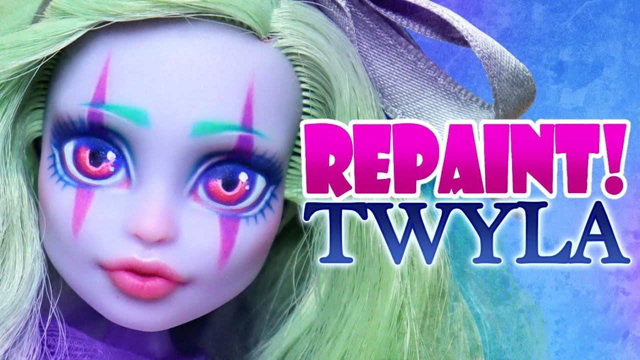 Repaint! Haunted Twyla Monster High Doll OOAK face up