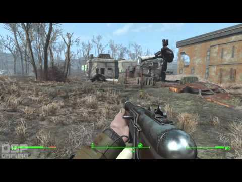 Fallout 4 playthrough pt37 - On the Brotherhood's Trail: National Guard and a GLOWING ONE!