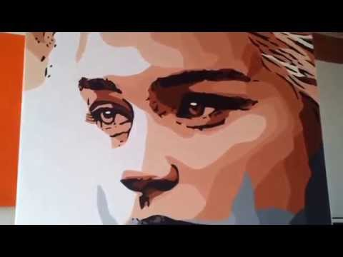 Daenerys Targaryen ( Game of Thrones ) pop art painting by Original D76