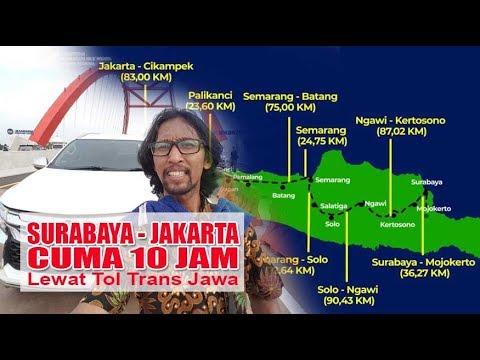 Jakarta - Surabaya Cuma 10 Jam Lewat Toll Trans Jawa Gratis