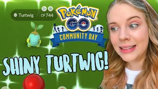 HOW MANY SHINIES? Turtwig Community Day Pokémon Go Vlog!
