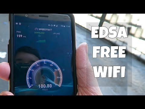 100Mbps Free WIFI at the side of the road! (EDSA)