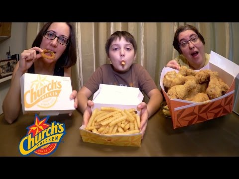 Church's Chicken | Gay Family Mukbang (먹방) - Eating Show