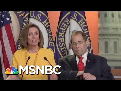 Full Pelosi, Nadler, Schiff And Cummings Press Conference Post-Mueller Testimony | MTP Daily | MSNBC Speaker of the House Nancy Pelosi, Reps. Jerry Nadler, Adam Schiff and Elijah Cummings speak to reporters after Robert Mueller's testimony before Congress