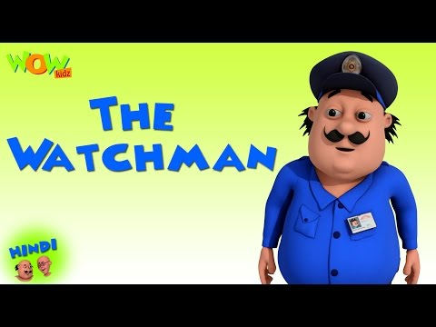 The Watchman- Motu Patlu in Hindi - 3D Animation Cartoon for Kids - As on Nickelodeon thumbnail