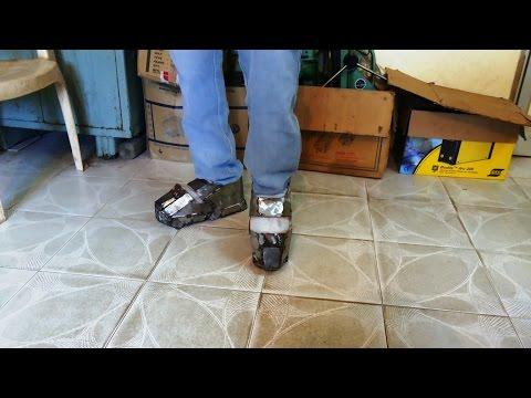 """Iron man Suit Mark VI ( Mark - 6 ) part-1 """" Shoes """" ( Metal )"""