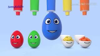 Gambar cover mewarnai telur-telur yg lucu    yuk kita belajar mewarnai