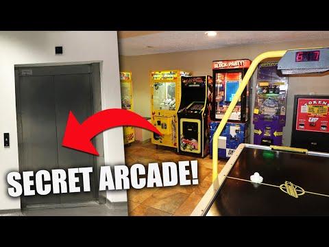 I FOUND A SECRET ARCADE!!!
