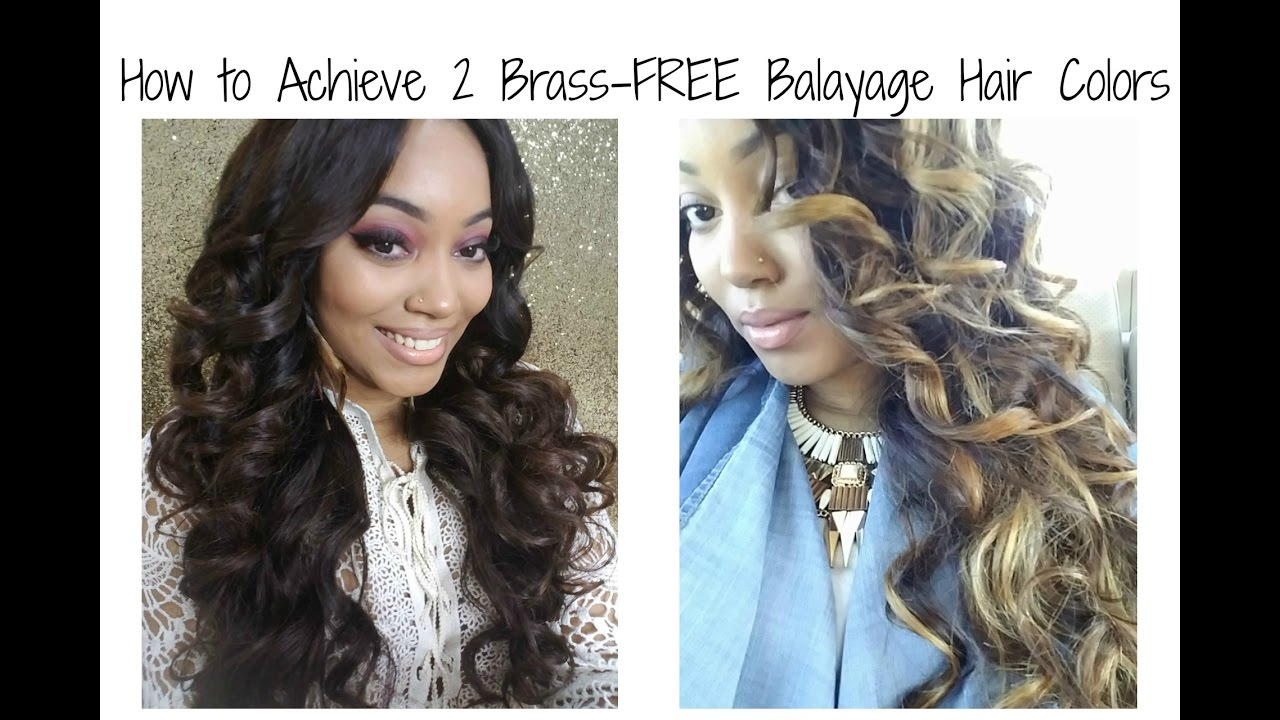 Tutorial How To Achieve 2 Brass Free Balayage Hair Colors Youtube