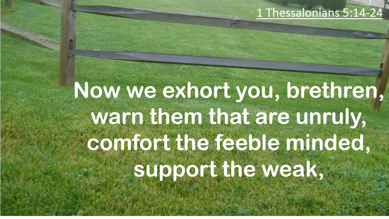 1 Thessalonians 5 14 24 Now We Exhort You Brethren Kjv Singalong