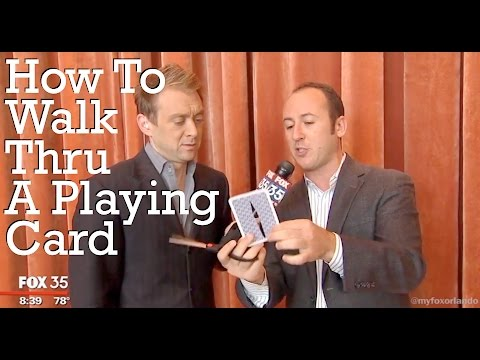 """Best Illusionists Around!"" - Kostya Kimlat Shows You How To Walk Through A Playing Card!"