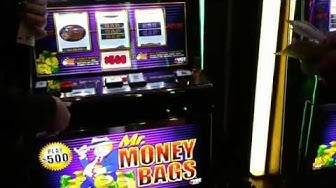 VGT $500 SPINS MR. MONEY BAGS MULTIPLE HANDPAYS