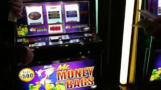 VGT $500 SPINS MR. MONEY BAGS MULTIPLE HANDPAYS