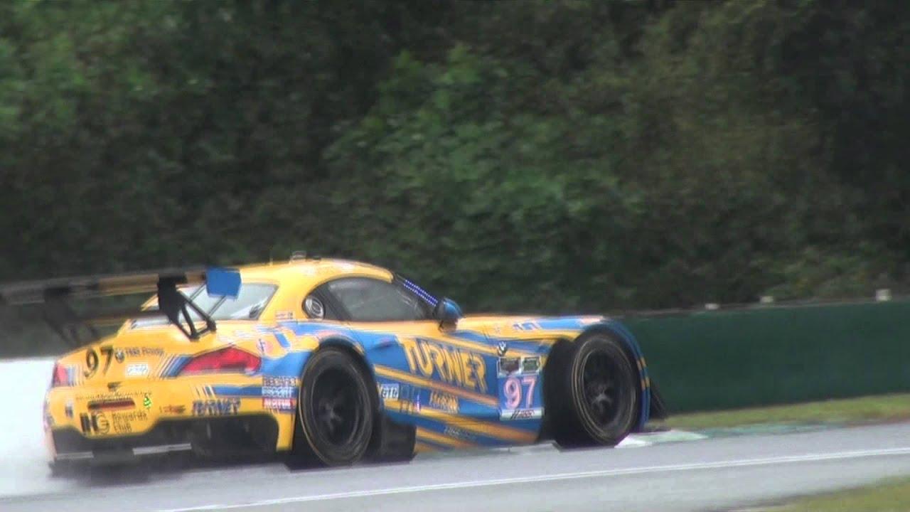 Bmw Z4 Gte Amp Gt3 V8 Sound In Action On Track 2015 Petit Le Mans Youtube